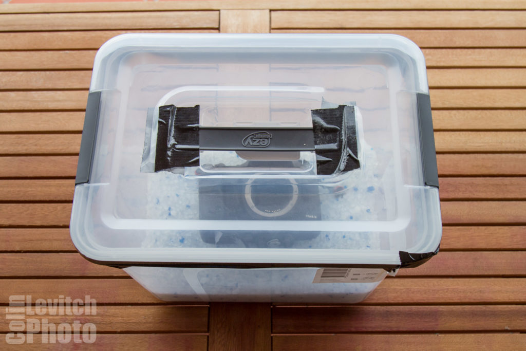 After I waterlogged my camera I lived in a sealed box for two days